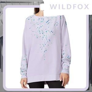 🆕🦊 NWT WILDFOX Bleach Dripped Roadtrip Sweater